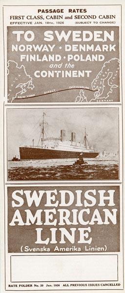 Passage rates 1926