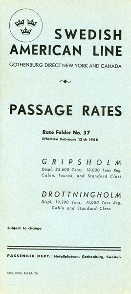 Passage rates nr 37 1946