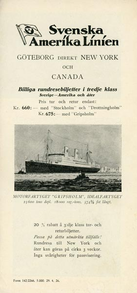 Price list third class 1936