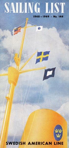 Sailing list nr 144 1948-1949