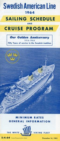 Sailing schedule 1964