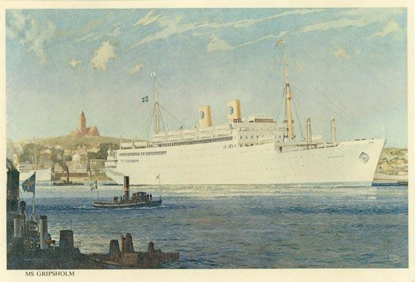 Framed print MS Gripsholm 1925