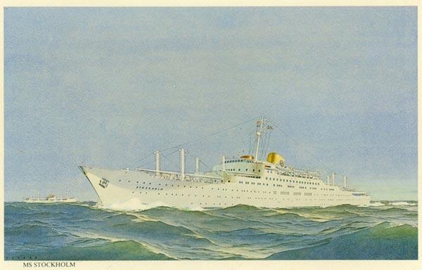 Framed print MS Stockholm 1948