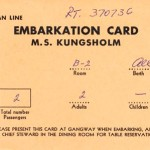 Embarkation card Kungsholm