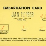 Embarkation card 530115