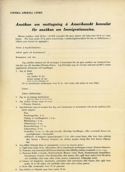 Inmigration visa 1924