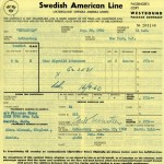 Passenger contract 1960