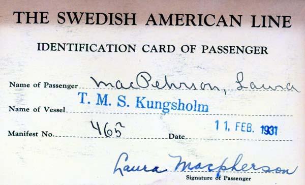 Identification card 1931