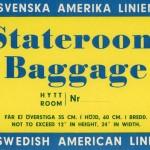 Baggage tag Stateroom baggage
