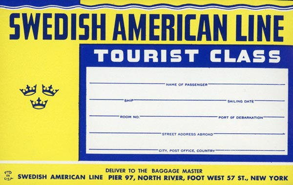 Baggage tag Tourist class (2)