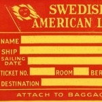 Baggage tag Third class