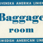 Baggage tag Baggage room