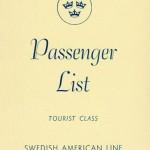 Passenger list 521129 Gbg-NY