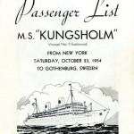 Passenger list 541023 NY-Gbg