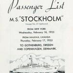 Passenger list 550216 NY-Gbg