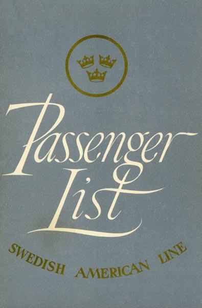 Passenger list 521230 Gbg -NY