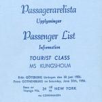 Passenger list 560630 Gbg-NY