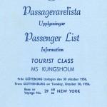 Passenger list 561030 Gbg-NY