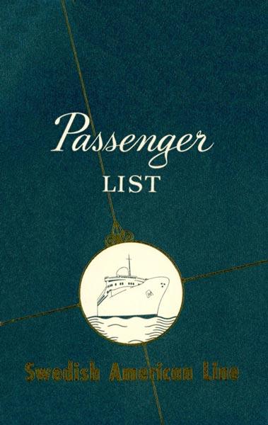 Passenger list 570905 NY-Gbg