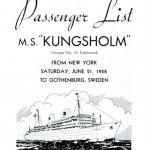 Passenger list 580621 NY-Gbg