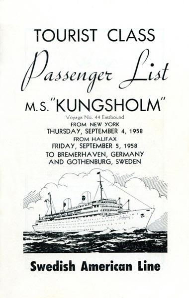 Passenger list 580904 NY-Gbg