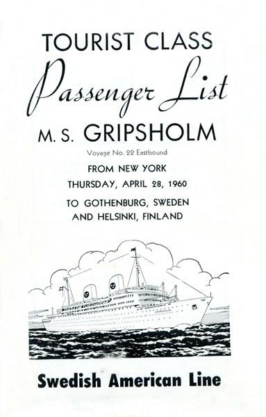 Passenger list 600428 NY-Gbg