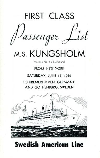 Passenger list 600618 NY-Gbg