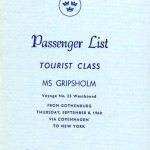 Passenger list 600908 Gbg-NY