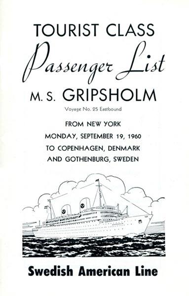 Passenger list 600919 NY-Gbg