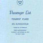 Passenger list 600920 Gbg-NY