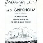 Passenger list 610606 NY-Gbg
