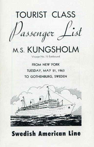 Passenger list 630521 NY-Gbg