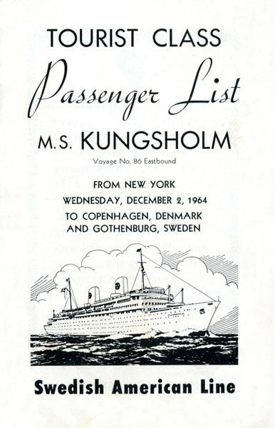 Passenger list 641202 NY-Gbg