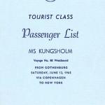 Passenger list 650612 Gbg-NY