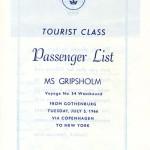Passenger list 660705 Gbg-NY