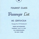 Passenger list 670711 Gbg-NY