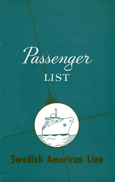 Passenger list 671111 Gbg-NY