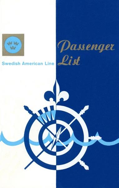 Passenger list 720905 Gbg-NY