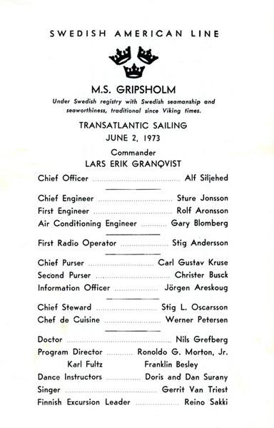 Passenger list 730602 NY-Gbg