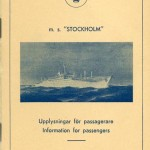 Information for passengers MS Stockholm
