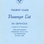 Passenger list 670524 Gbg -NY