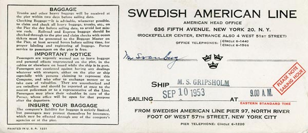 Ticket cover 530910