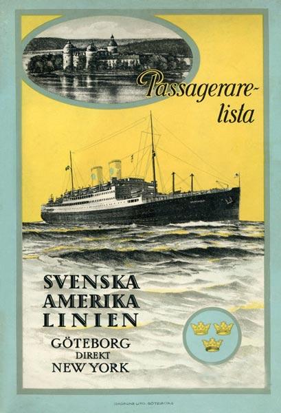Passenger list 260925 Gbg-NY