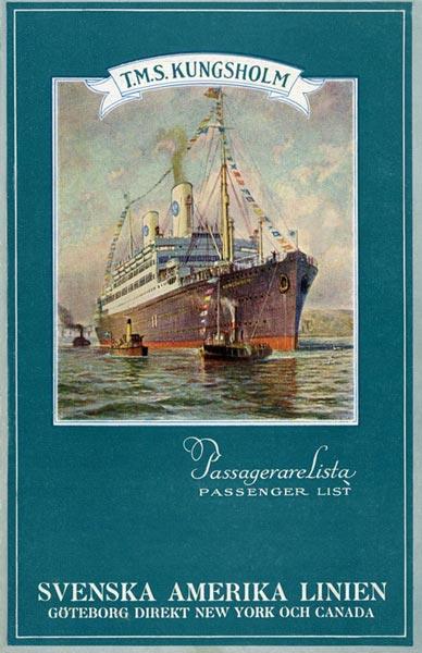 Passenger list 310912 Gbg-NY