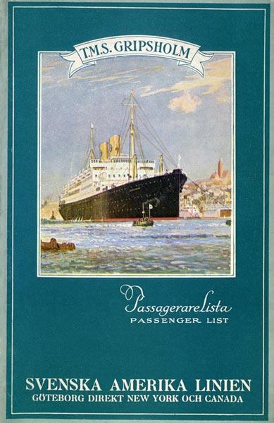 Passenger list 320820 Gbg-NY