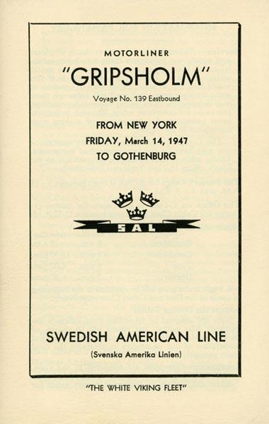 Passenger list 470314 NY-Gbg