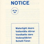 Information for passengers Watertight doors 1967