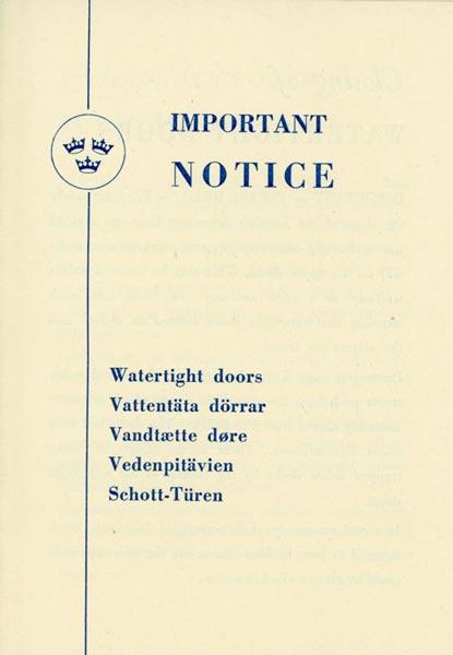 Information Watertight doors