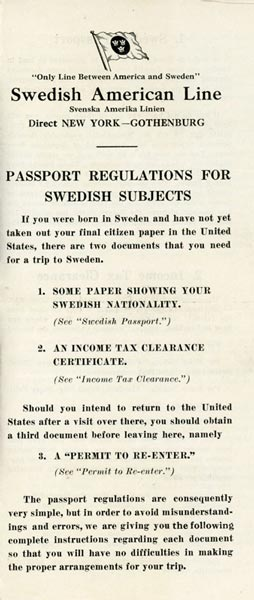 Passport regulations (no date)