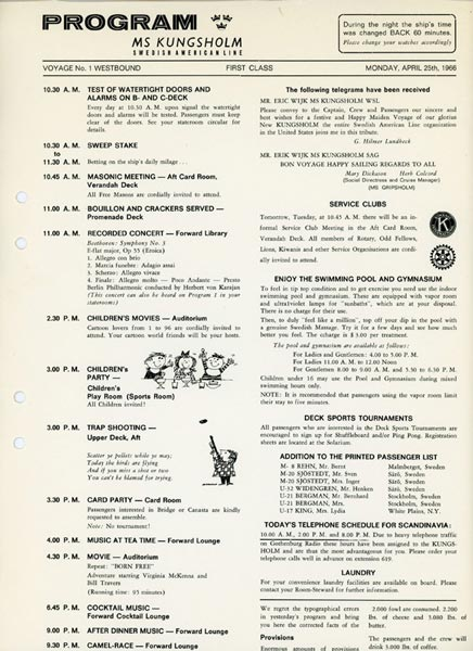 Program First class 660425